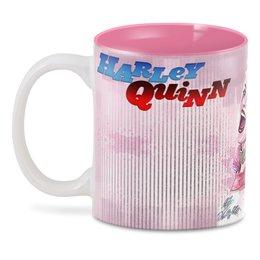 "3D кружка ""Harley Quinn Design"" - харли квинн, dc комиксы, суперзлодейка, отряд самоубийц"