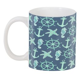 """3D кружка """"океан"""" - звезда, море, якорь, океан, штурвал"""