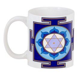 "3D кружка ""Янтра и мантра Сатурна (Шани в джйотише)"" - медитация, индуизм, астрология, божество, янтра"