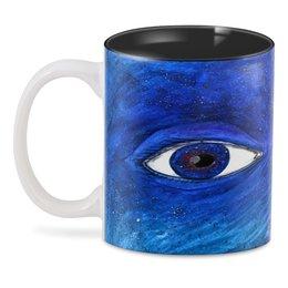 "3D кружка ""Space look"" - space, глаза, абстракция, космос, звезды"