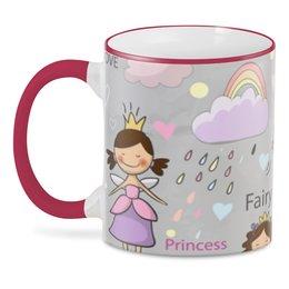 """3D кружка """"Принцесса"""" - любовь, радуга, сердца, сердечки, единорог"""