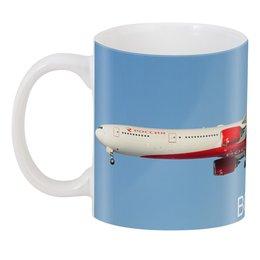 """3D кружка """"Boeing 777-300 ROSSIYA"""" - боинг, boeing, boeing 777, авиакомпания россия, rossiya"""