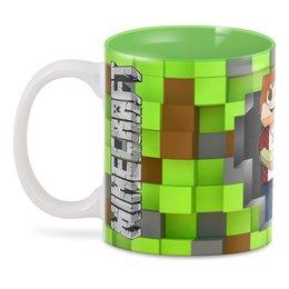 """3D кружка """"Minecraft"""" - компьютерные игры, майнкрафт, приключение, игроманам, строителям"""