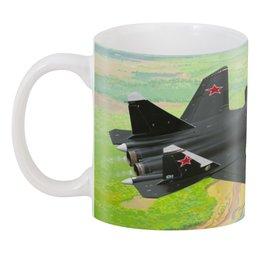 "3D кружка ""СУ-47"" - беркут, су-47, самолет"