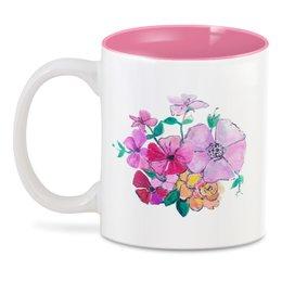 """3D кружка """"Летние цветы"""" - вподарок, стильные подарки, купить необычный подарок, купить неожиданый подарок, цветы на чашке"""