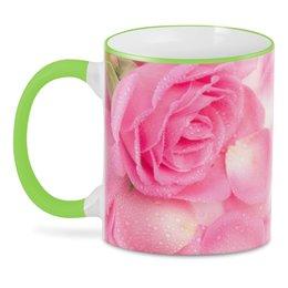 """3D кружка """"Капли на розе"""" - день матери, 8 марта, капли, цветы, розы"""