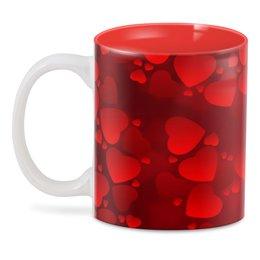 "3D кружка ""сердца"" - сердечки, сердца, любимой"