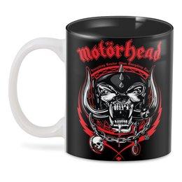 """3D кружка """"МУЗЫКА. MOTORHEAD"""" - череп, символ, волк, шлем, стиль надпись логотип яркость"""