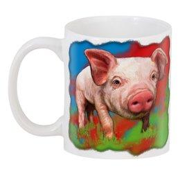 """3D кружка """"Симпатичный свин"""" - новый год, свинка, свинья, хрюшка, поросёнок"""