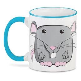 "3D кружка ""Мышь (Крыса)"" - новый год, мышь, крыса, год крысы, 2020 год"