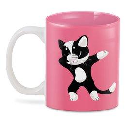 """3D кружка """"Танцующий котик"""" - кот, кошка, котик, котёнок"""