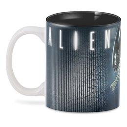 "3D кружка ""ALIEN Design"" - монстр, инопланетянин, фантастика, чужой, пришелец"