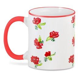 """3D кружка """"3D Красные цветы"""" - лето, цветы, природа, маки"""