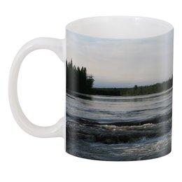 """3D кружка """"Белая ночь у реки"""" - вода, пейзаж, река, вечер, карелия"""