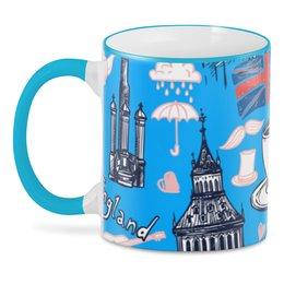"""3D кружка """"Лондон"""" - корона, город, чай, кофе, путешествие"""