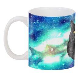 """3D кружка """"Кот в космосе"""" - кот, звезды, котенок, космос, коты в космосе"""