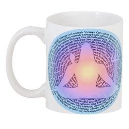 """3D кружка """" Om Namah Shivaya на рассвете"""" - надписи, индуизм, мантра, божество, шива"""