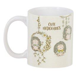 """3D кружка """"Cute Hedgehogs"""" - день рождения, нежность, милота, ёжики, зверушки"""