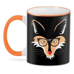 "3D кружка ""Лис и лиса"" - очки, лис, fox, лиса, животное"