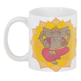 """3D кружка """"Бог Ганеша, приносящий богатство"""" - мандала, индия, индуизм, божество, индийский"""