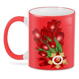 """3D кружка """"9 мая"""" - праздник, цветы, 9 мая, день победы, орден"""