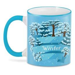 """3D кружка """"Зимняя"""" - новый год, зима, природа, 2019"""