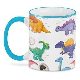 """3D кружка """"Динозавры"""" - монстр, динозавр, животное, яйцо, доисторический"""