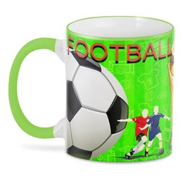 "3D кружка ""FOOTBALL RUSSIA"" - кубок, футбол, мяч, мундиаль, чемпионат"
