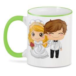 """3D кружка """"Подарок на свадьбу"""" - -свадебный подарок"""