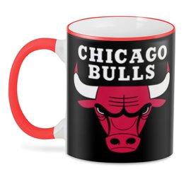 "3D кружка ""Чикаго Буллз"" - чикаго буллз, баскетбол, бык"