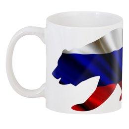 "3D кружка ""Русский Медведь"" - bear, медведь, русский, флаг, russian"