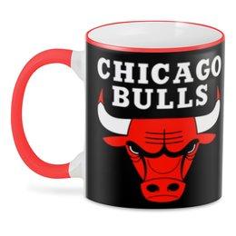 """3D кружка """"Чикаго Буллз"""" - спорт, баскетбол, бык"""
