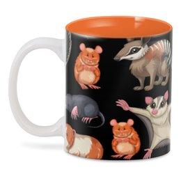 """3D кружка """"Дикие животные"""" - мышь, крыса, животное, хомяк, летучая мышь"""