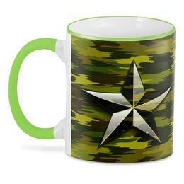 "3D кружка ""Military art "" - звезда, 23 февраля, армия, камуфляж, милитари"