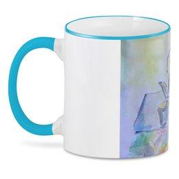 "3D кружка ""На кухне"" - стакан, стол, яблоко, чайник, чай"