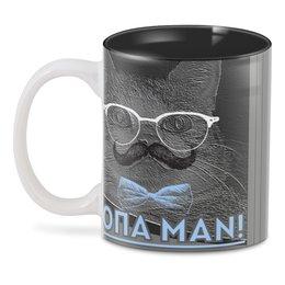 """3D кружка """"Опа MAN!"""" - кот, man, очки, котэ, усы"""