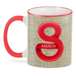 """3D кружка """"8 Марта Женский день"""" - праздник, 8 марта, работа, подарок, минимализм"""