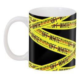 "3D кружка ""Off-white"" - надписи, бренд, brand, off-white, оф вайт"