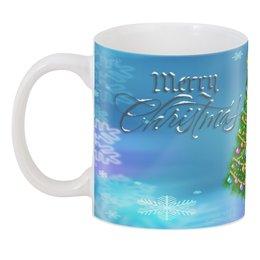 """3D кружка """"Christmas"""" - праздник, новый год, рождество, снежинки, christmas"""