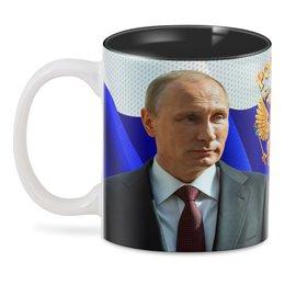 "3D кружка ""PUTIN"" - росиия, герб россии, путин, президент, символ"