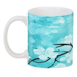 "3D кружка ""Цветочки"" - цветы, весна, природа, дерево, цветочки"