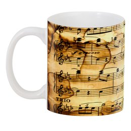 """3D кружка """"Мелодия"""" - музыка, ноты, песня, мелодия, газета"""