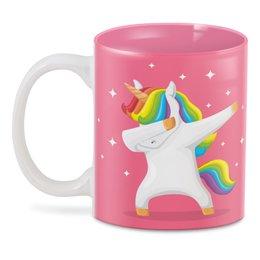 """3D кружка """"Танцующий единорог"""" - лошадь, пони, лошадка, мифы, единорог"""