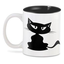 """3D кружка """"Котя   ."""" - кот, кошка, котенок, черный, кошечка"""