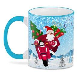 """3D кружка """"С Новым Годом! (Дед Мороз)"""" - новый год, зима, символ нового года, дед мороз, хрюша"""