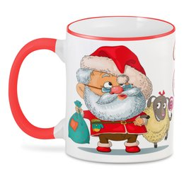 "3D кружка ""Merry Christmas"" - прикол, юмор, новый год, санта клаус"