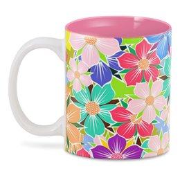 """3D кружка """"Floral Design"""" - лето, цветы, растения, арт дизайн, модникам"""