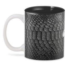 "3D кружка ""Reptilian Design"" - мужу, крокодил, мужчине, рептилия"