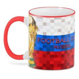 "3D кружка ""FOOTBALL Design"" - мундиаль, мяч, футбол, флаг, кубок"