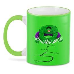 """3D кружка """"Зеленый монстр"""" - комиксы, супергерой"""